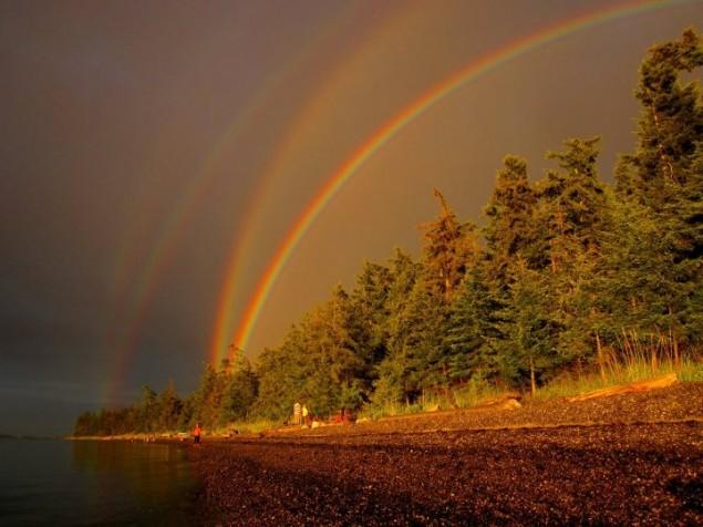 A Quadruple Rainbow.