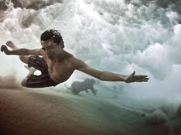 Below a Breaking Wave