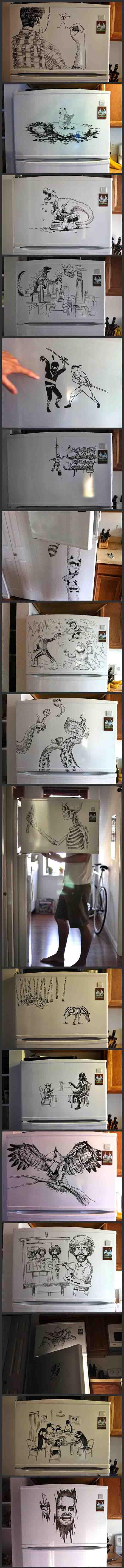 Clever Freezer Art