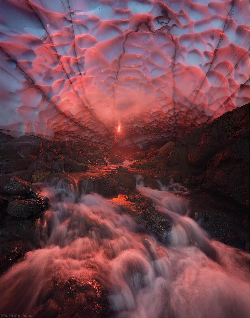 Ice Cave Waterfall