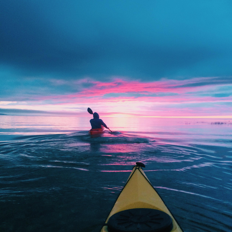 Kayaking Over Lake Huron