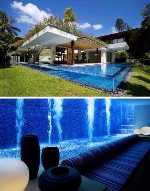 Pool basement.