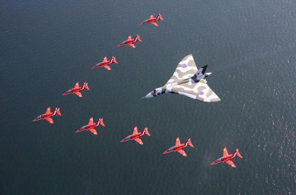 Reds escorting Vulcan to its retirement.