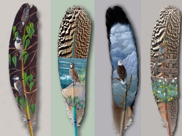 Stunning feather art