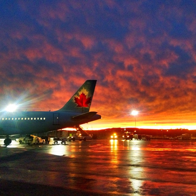 Sunset on the ramp