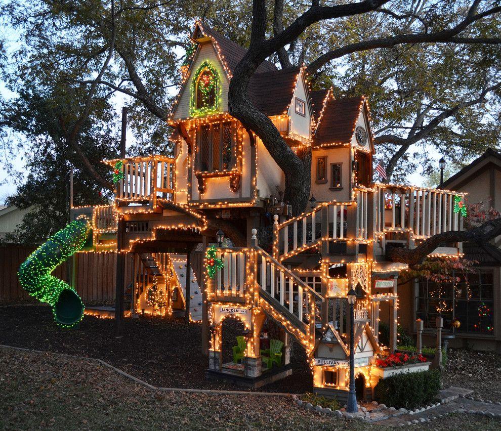 Superb Lighted Tree House