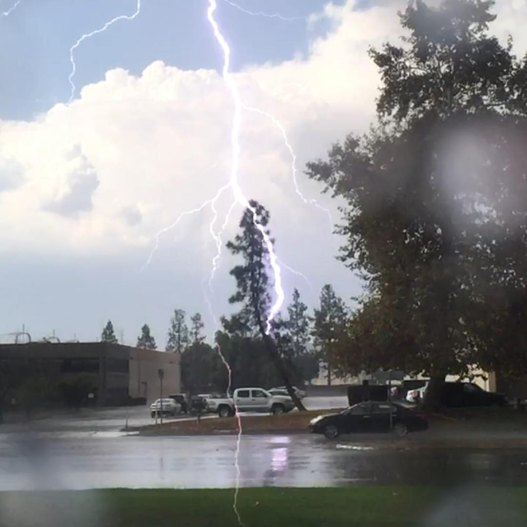 Tried to prove to my gf that it was raining in Southern California
