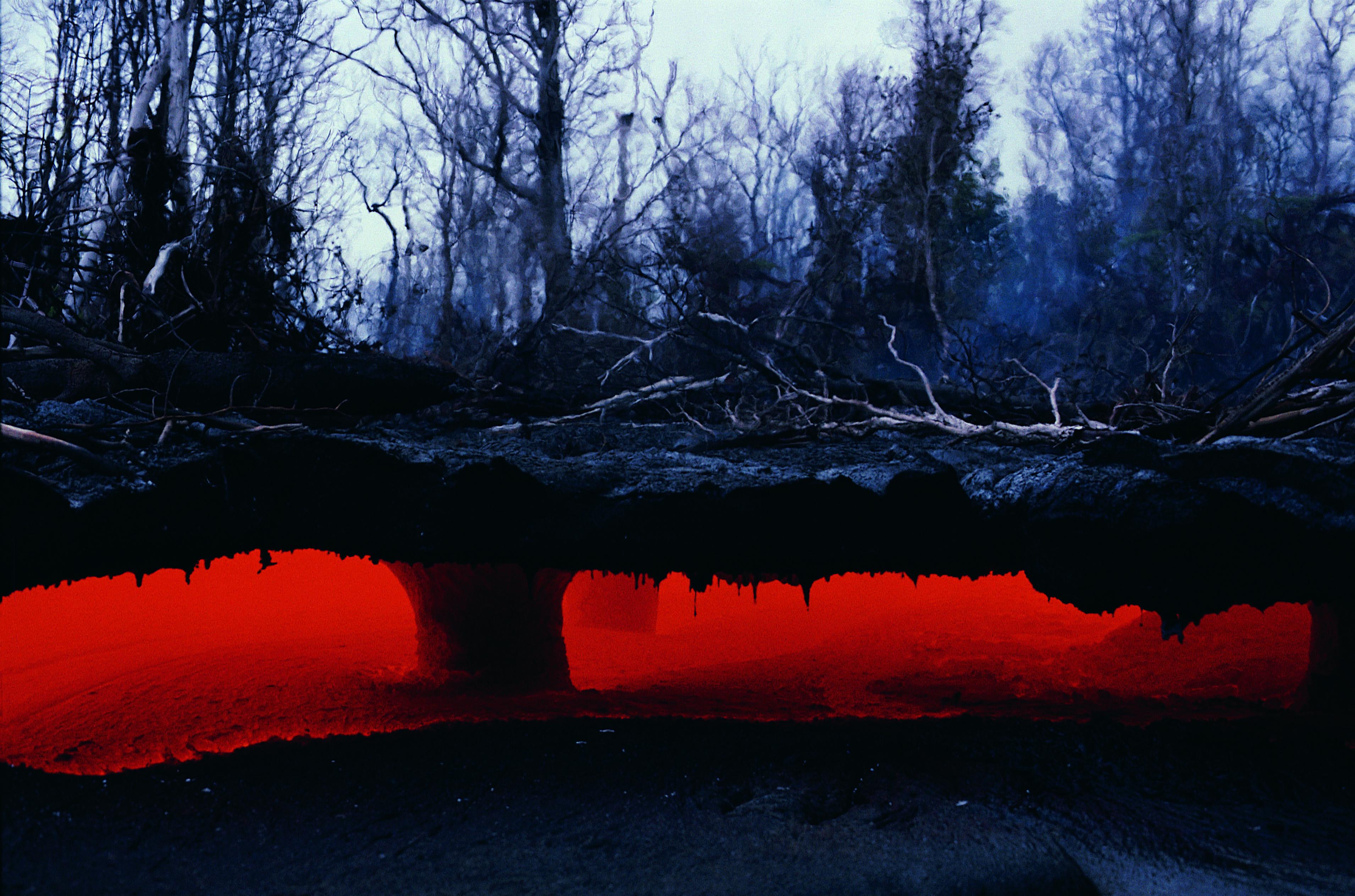 Underground river of magma