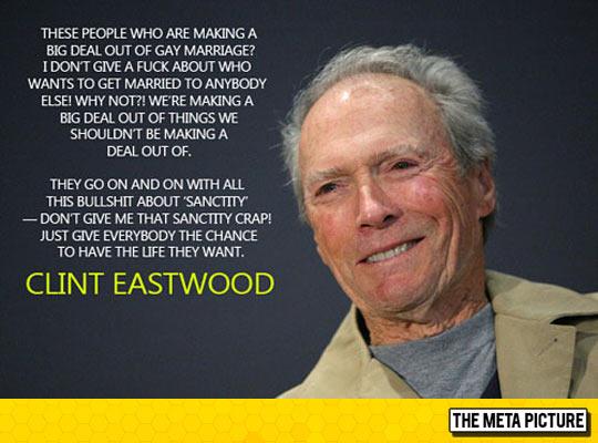 Mr. Eastwood Tells It Like It Is