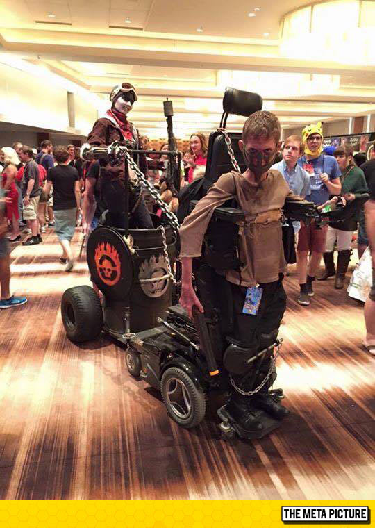 Disabled Guy Owns Mad Max Cosplay