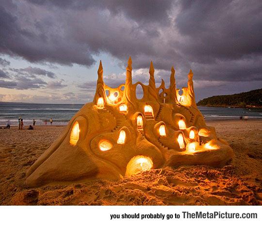 Fairy Tale Lighted Sandcastle