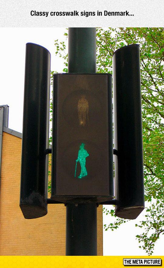 Classy Crosswalk Sign