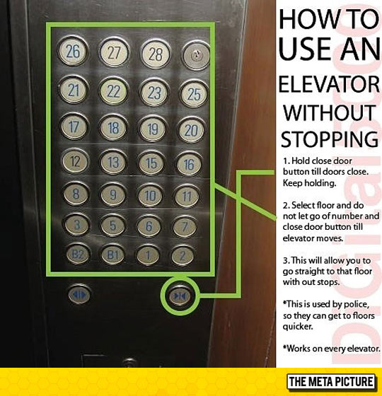 It Works On Every Elevator