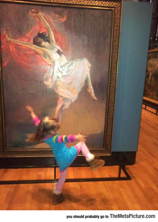 Little Girl Truly Moved By Art