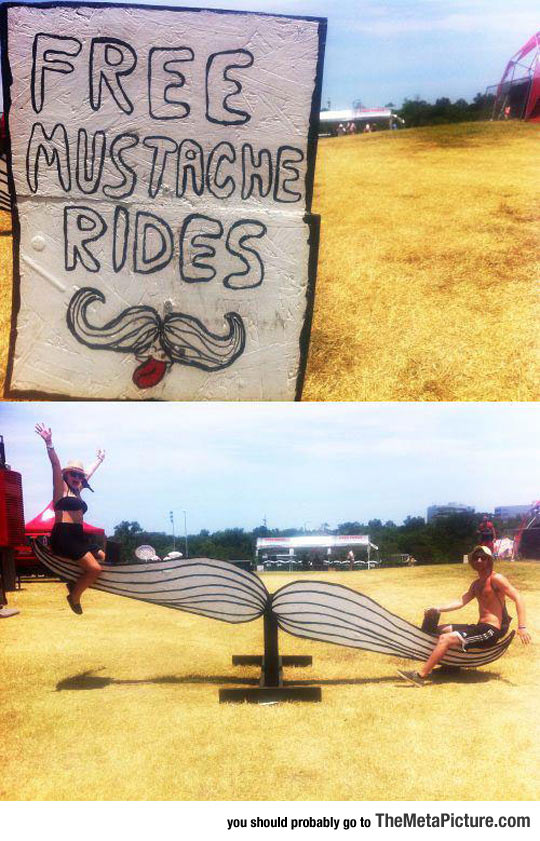 Mustache Rides For Free