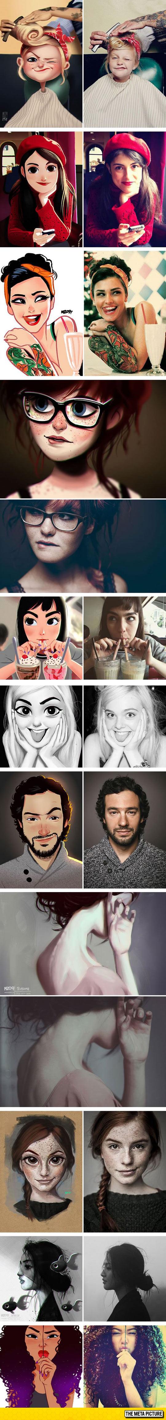 cute-art-people-drawings-color