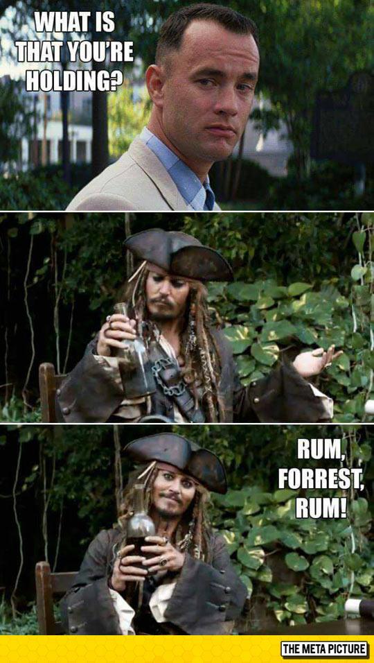 Forrest Gump Meets Captain Jack Sparrow
