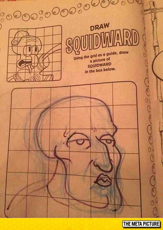 funny-Squidward-drawing-book