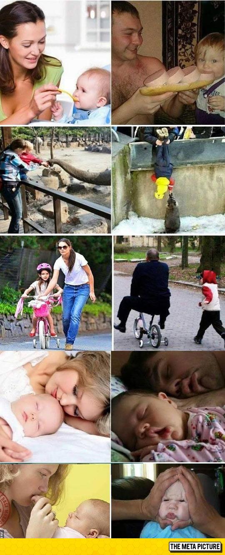 funny-mom-vs-dad-kids