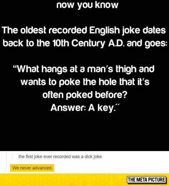 Oldest Recorded English Joke