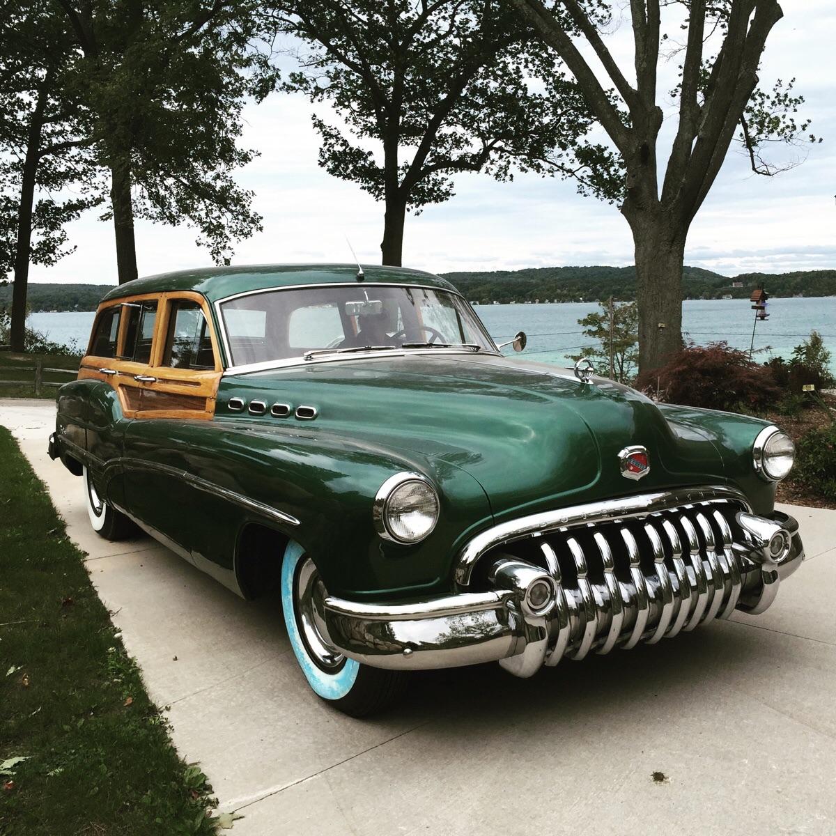 1950 Woody at the lake