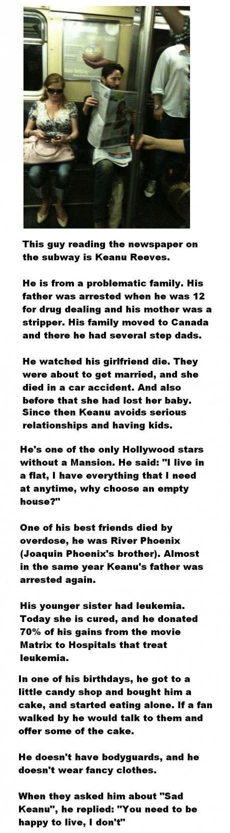A STORY ABOUT KEANU REEVES.