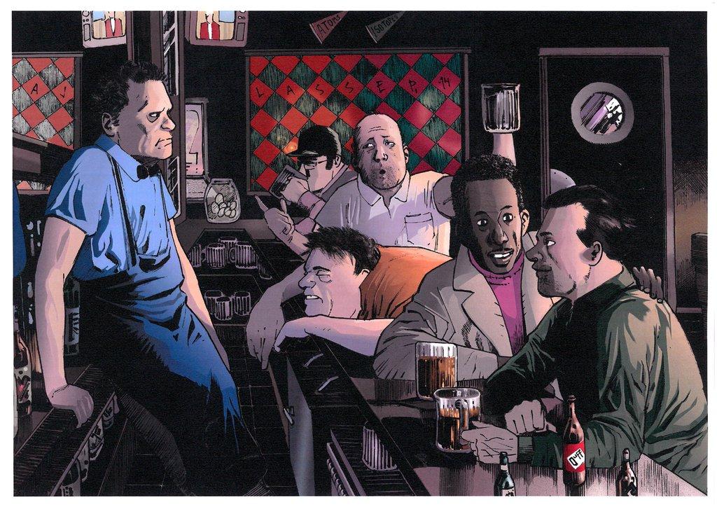 Alternative art of Moe's Tavern