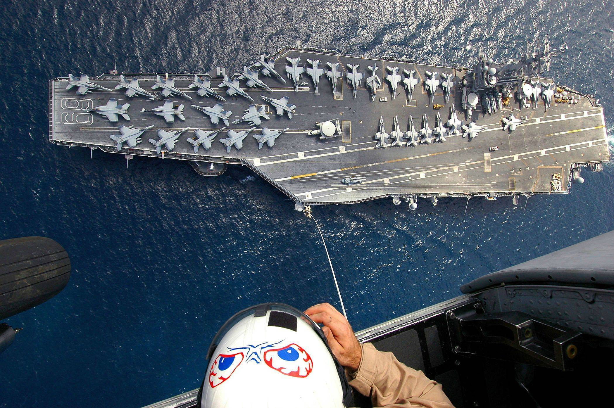 Amazing view of an aircraft carrier