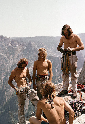 Climbers in Yosemite during the 1970's