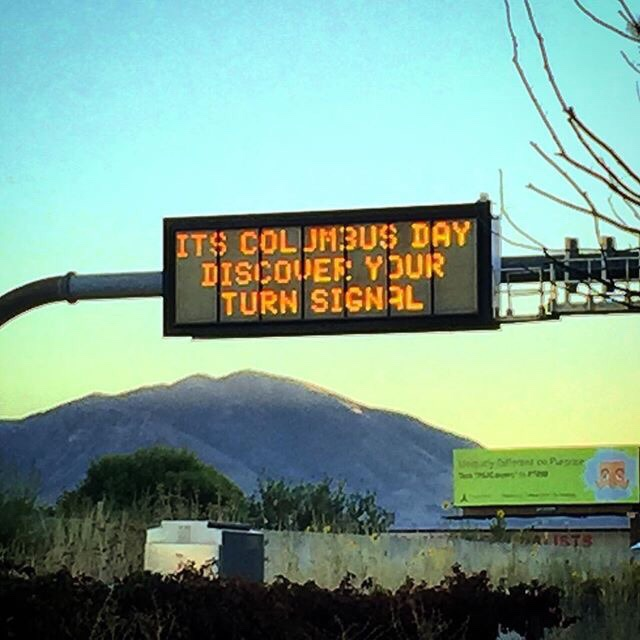 Local traffic sign getting a little snappy.