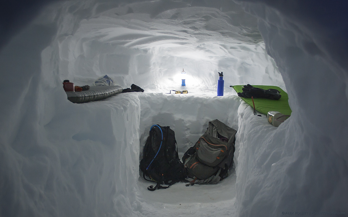 Snow cave camping1
