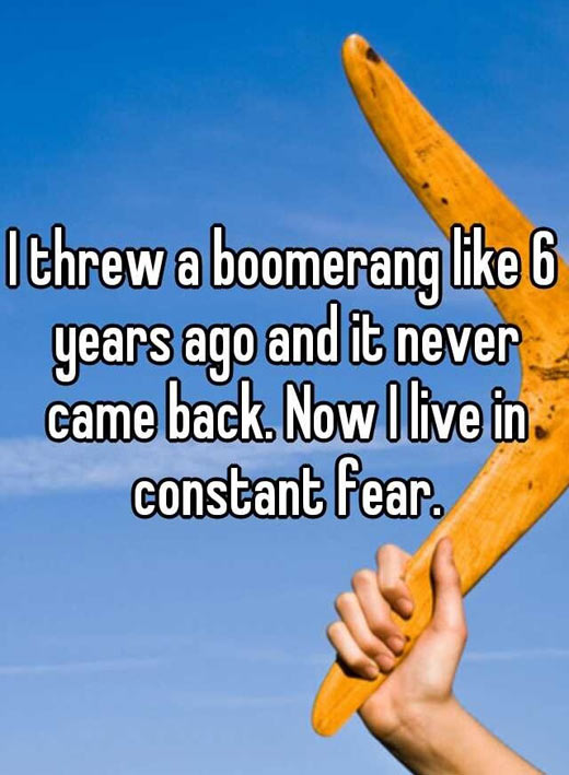 THE PROBLEM WITH BOOMERANGS.