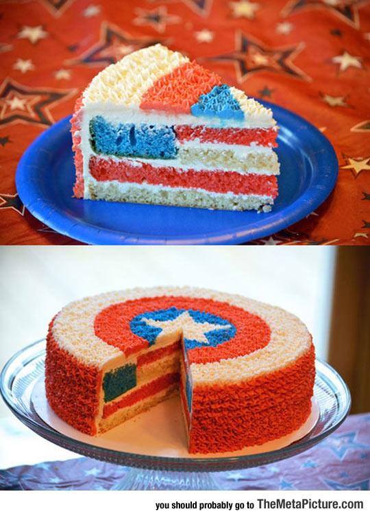 cool-Captain-America-star-cake-flag