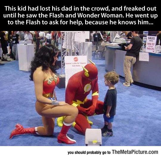 Super Heroes Being Super Cool