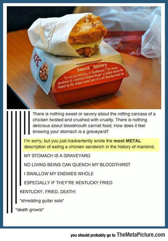 Most Metal Description Ever