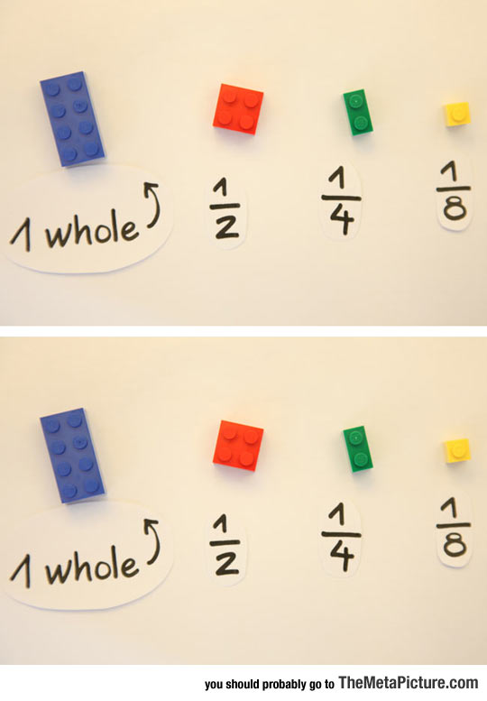 Excellent Way To Teach Kids About Fractions Using LEGO Bricks