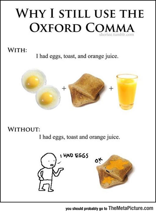 Why I Always Use The Oxford Comma