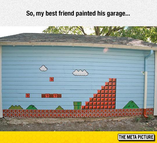 cool-garage-painting-Mario-video-game