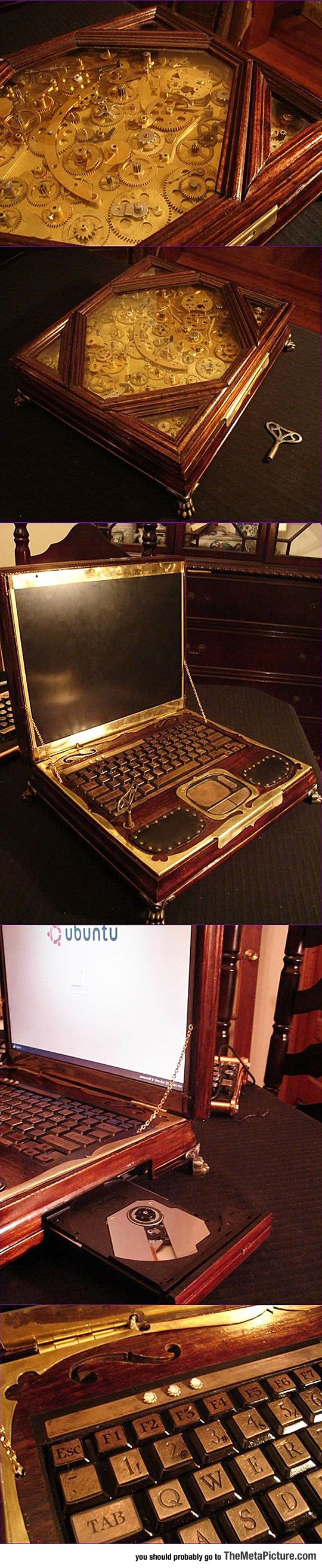 Gorgeous Steampunk Laptop