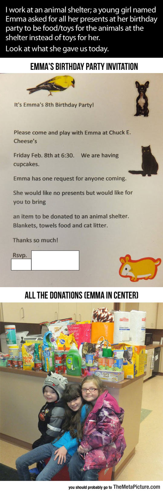 cool-little-girl-animals-donation