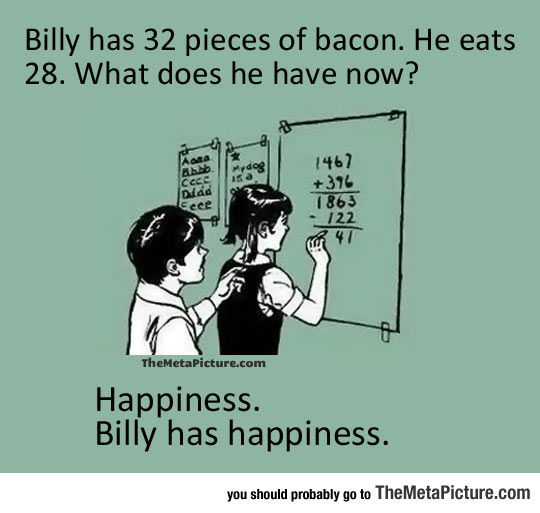 Math Is Actually Better With Bacon