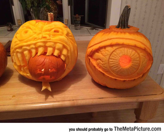 Family Pumpkin Carving Got A Little Competitive