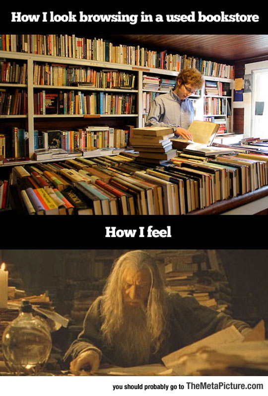 Every Time I Go To A Used Bookstore