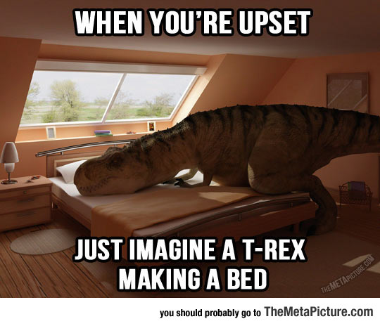 cool-trex-making-bed
