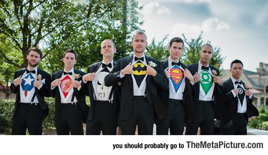 Coolest Groomsmen Picture Ever