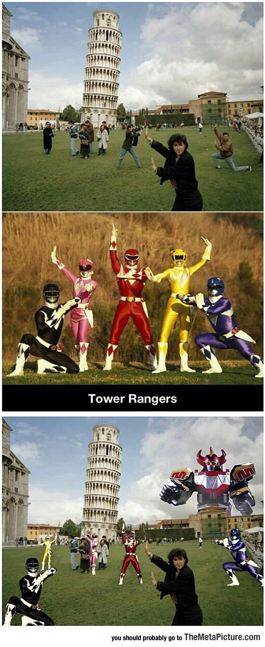 funny-Power-Rangers-leaning-tower-Pisa