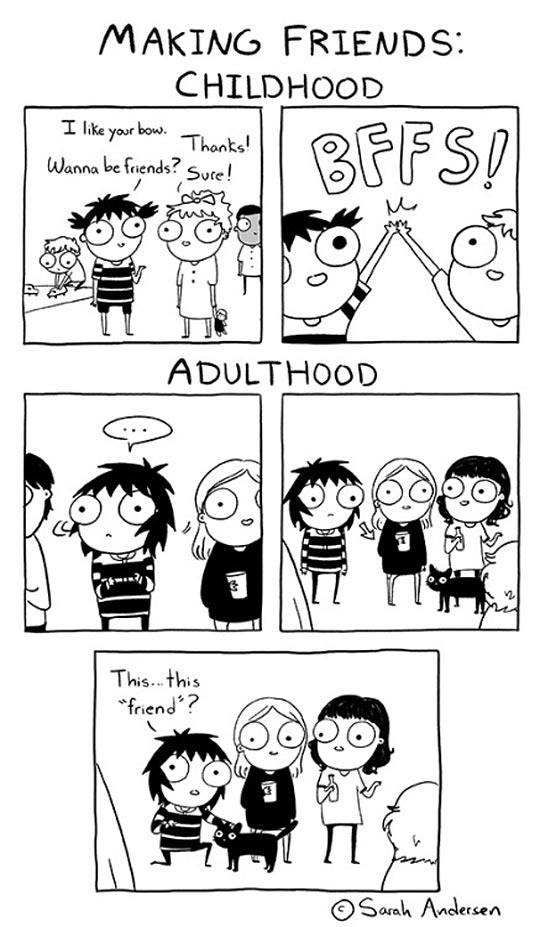 funny-childhood-vs-adulthood-friends