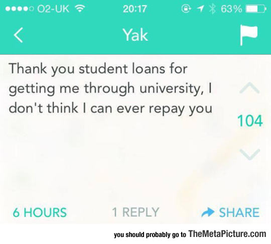 Thank You Student Loans