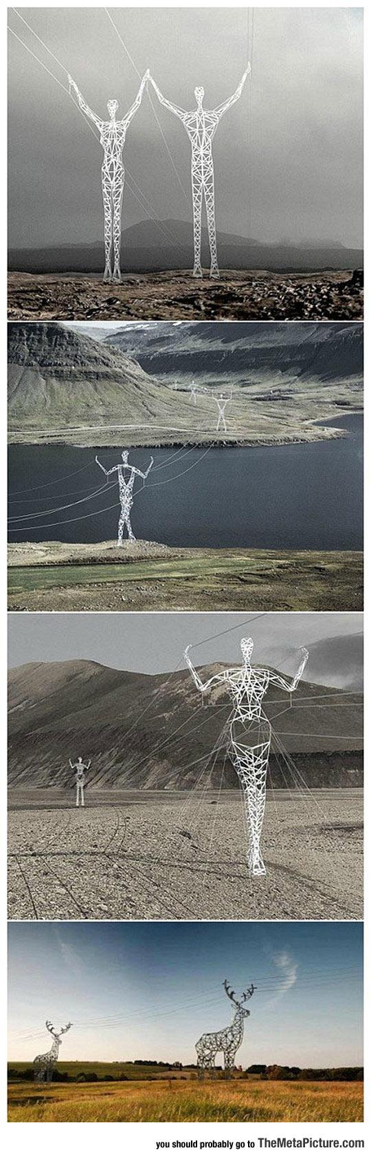 human-shape-electric-towers-Iceland