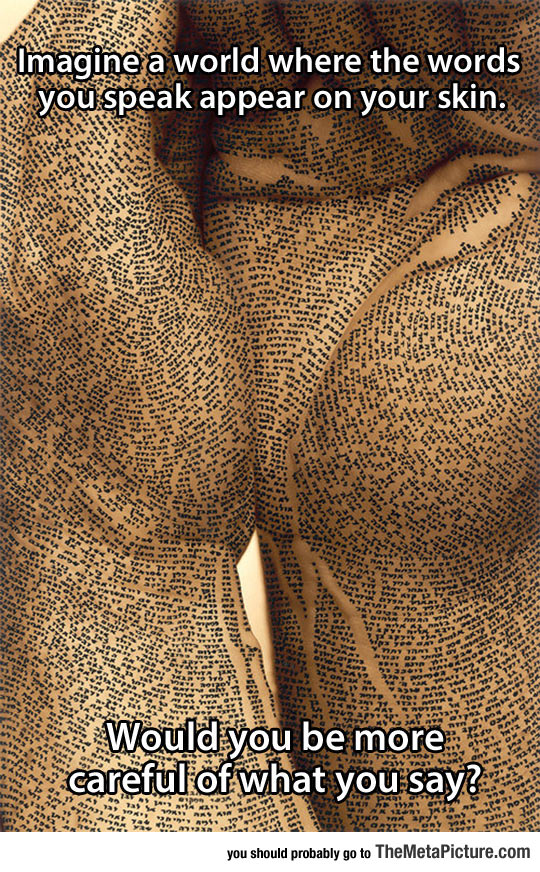 If Words Suddenly Appeared On Your Skin